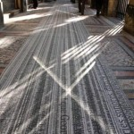 Site-specific floor print installation, 252 m x 1.30 m