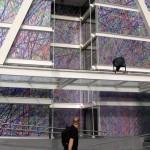 Site specific print installation, 22 x 15 m