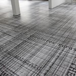 Site-specific floor print installation, 13.00 m x 8.00 m