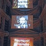 Site specific video installation with 3 projectors, Organ improvisation : Francesco Filidei, Video software: Claude Micheli