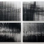 Lenticular mounted on alu-dibon, 4 panels: 1.20 x 0.60 m each