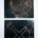 Lenticular mounted on alu-dibon, 2 panels : 1.10 x 1.10 m each