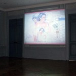 Site specific installation with 1 videoprojector, Video software: Claude Micheli