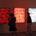 Lenticular mounted on light box, 0.90 x 1.20 m each