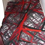 Site specific print installation, 5.00 x 2.20 m