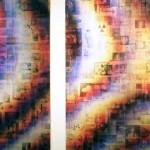 Lenticular mounted on alu-dibon, 2 panels: 1.10 x 1.80 m each