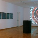 Lenticular mounted on alu-dibon, 0.55 x 0.70 m each / Interactive video installation with 1 videoprojector