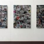 Lenticular mounted on alu-dibon, 3 panels : 0.90 x 1.20 m each