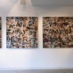 Lenticular mounted on alu-dibon, 3 panels : 1.10 x 1.10 m each