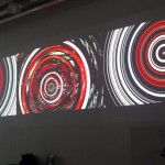 3-screen video installation, 21.00 x 3.75 m, Video software : Claude Micheli
