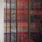 Lenticular mounted on alu-dibon & PMMA (Plexiglas), 0.35 x 1.80 m each (5 panels)