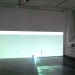 Site specific installation with 2 videoprojectors, Sound track: Thanos Chrysakis, Video software: Claude Micheli