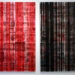 Lenticular mounted on alu-dibon, 0.90 x 1.20 m each
