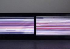 Line_Wave is a video installation composed of lenticular-laminated screens that display generative proliferation of ten thousands of random color lines. During the time, the lines move with a smooth, wavelike...