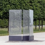 Site-specific Installation, 3 printed glass panels, 1.20 x 2.80 m (each panel) / Domaine national de Saint-Germain-en-Laye, FR
