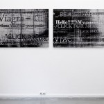 Lenticular print on aluminum composite, 2 panels, 1.20 × 0.90 m (each)