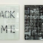 Ceramic ink on multilayered cracked glass panel, 0.60 × 0.60 m (each)