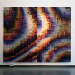 Lenticular print on aluminum composite, 2 panels : 1.10 × 1.80 m each