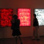Lenticular print on color plexiglass, mounted on light box, 0.90 × 1.20 m each