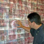 Site specific print installation with lenticular sheets, 6.00 × 2.60 m