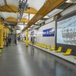 Video installation / Video software: Claude Micheli / Photo: (c) RATP, Denis Sutton