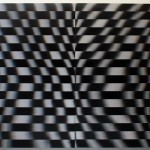 Lenticular print on aluminum composite, 2.20 × 2.20 m (2 panels)