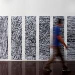 10 printed paper panels, 0.50 × 2.00 m (each)