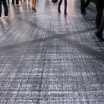 Floor-print installation, Art15 London Art Fair, Pigment print on vinyl floor, 19.00 m x 3.20 m