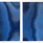 Lenticular print on aluminum composite, 2 panels, 1.10 × 1.80 m (each)