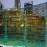 Pascal Dombis & Gil Percal (architect) / 5 printed glass panels, 6,00 × 2,80 m in total (each panel : 1,20 × 2,80 m)