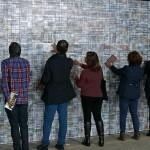Site specific print installation with lenticular sheets, 12 x 2.50 m / Voltaje, Centro Creativo Textura,  Bogotá, COL