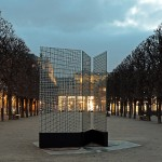 Installation, 3 printed glass panels, 1.20 x 2.80 m (each panel) / Jardin du Palais-Royal, Paris, FR