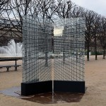 Installation, 3 printed glass panels, 1.20 x 2.80 m (each panel) / Jardin du Palais-Royal, Paris, FR