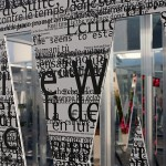 UV black print on digitally cut aluminum composite with inside mirror, 2.5 x 2.5 x 2.5 m / Architect: Gil Percal