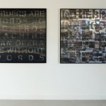 Installation view, Lenticular on digitally cut aluminum composite, 1.20 x 1.20 m each