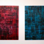 Installation view, Lenticular on colored acrylic panels, 0.90 x 1.20 m each
