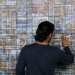 Site specific print installation with lenticular sheets, 12.00 × 2.50 m