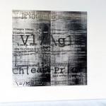 SpamScape, 2012 / Exhibition view, Glitch_Stitch, Galerie Pascal Janssens, Gent, 2013